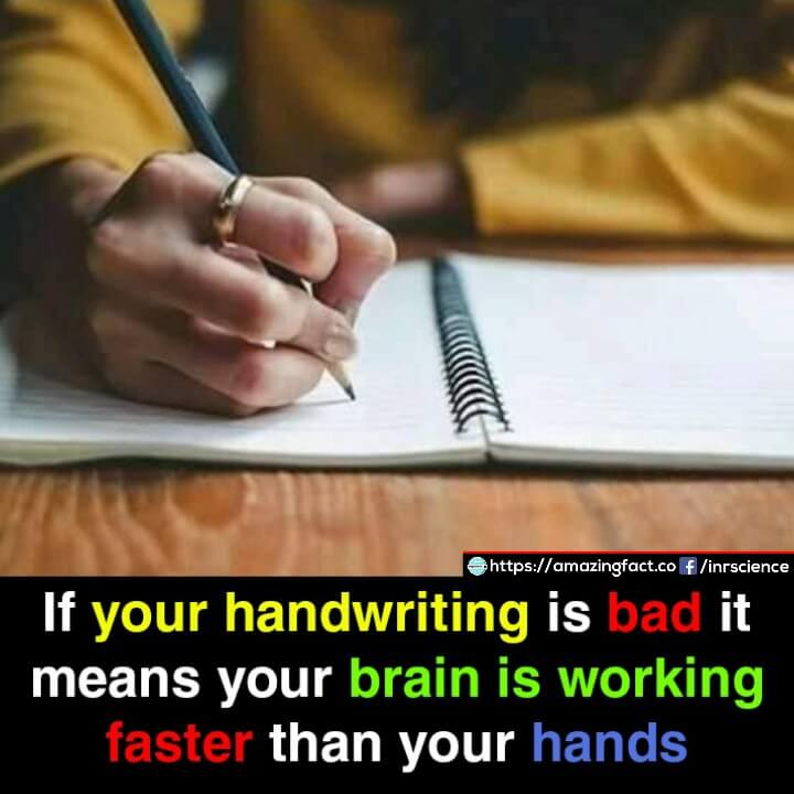 Ugly handwriting could be a sign of faster brain