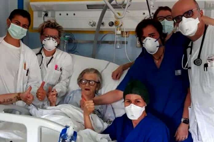Wherever there's life, there's hope.. A 95-year old Italian grandmother has become the oldest known woman in the country to recover from coronavirus.
