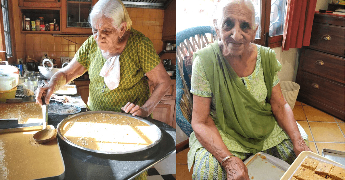 90 years old Chandigarh Grandma Launched Her Startup With Besan Ki Barfi
